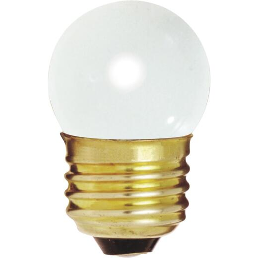 Satco 7.5W Frosted Medium Base S11 Incandescent Light Bulb