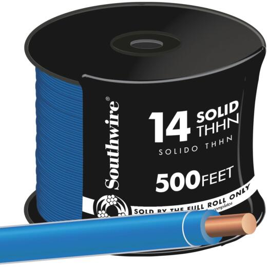 Southwire 500 Ft. 14 AWG Solid Blue THHN Wire
