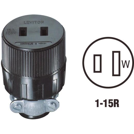 Do it 15A 125V 2-Wire 2-Pole Round Cord Connector