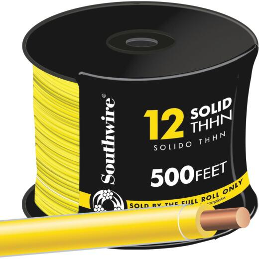 Southwire 500 Ft. 12 AWG Solid Yellow THHN Wire