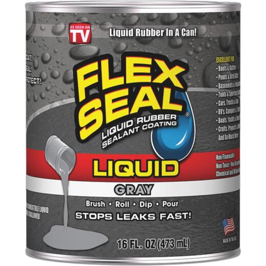 FLEX SEAL 1 Pt. Liquid Rubber Sealant, Gray
